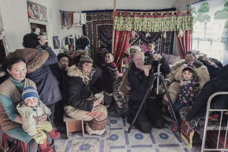 BTS, Jimmy taking portrait pictures inside the house, Mongolia, 2017