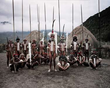 Dani Tribal members, Yetni Village, Southern Baliem, Papua, 2010
