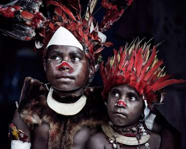 Lufa Children, Goroka, Eastern Highlands, Papua New Guinea, 2010