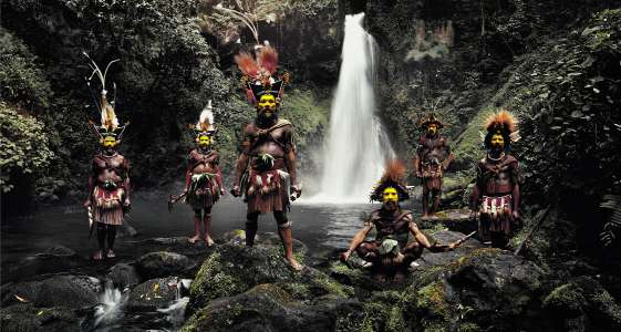 Huli Wig Men at Ambua Falls