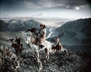Kazakh eagle hunting
