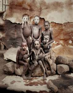 Mursi children,Mursi, Hilao Moyizo Village, Omo Valley, Ethiopia,  2011