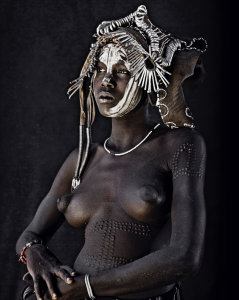 Mursi woman, Hilao Moyizo Village, Omo Valley, Ethiopia, 2011