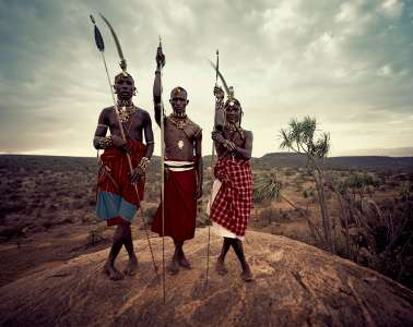 Samburu men, Loisaba, Kenya, 2010