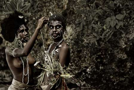 Kastom Girls, Wintua Village, South West Bay, Malekula, Vanuatu, 2011