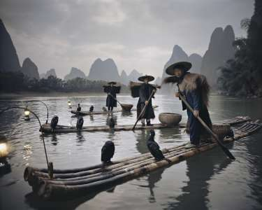 Yangshuo Fishermen, Yangshuo, Guilin, Guangxi, China, 2005