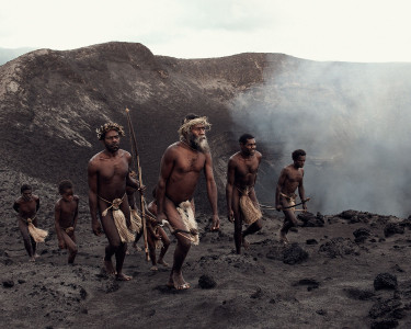 Ni Yakel villagers on Mount Yasur